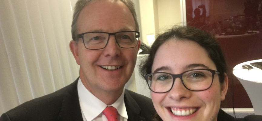 Romina Plonsker MdL mit Axel Voss MdEP